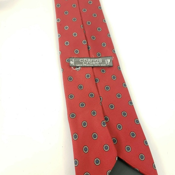 Red with Gold Dots Cross Tie